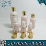 5ml, 10ml, 15ml, 20ml, 30ml, 50ml, botella de aceite esencial de cristal rosada ligera 100ml China