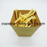Desechables envases de alimentos Kraft, patatas fritas Chips corrugado pequeña bandeja Salver