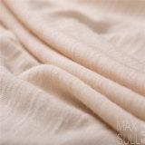 Tessuto delle lane della lavata della macchina di 100% con buona elasticità per il Nightdress nel bianco