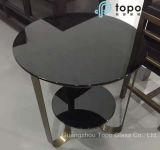 Verre à flot plat noir haute qualité pour verre de table (CB)