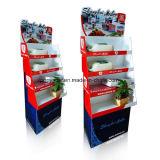Expositor de suelo de cartón de alimentos enlatados, bandejas piso