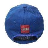 Stickerei-Baseball Cap&#160 des Blau-6 des Panel-3D; Laufen der Schutzkappen