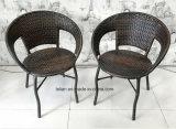 Mimbre al aire libre juego de mesa y silla de jardín (LL-RST001)