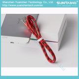 Cabo trançado de nylon do USB do cabo de dados da fonte do fabricante para o iPhone