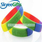 Braccialetti personalizzati di marchio del silicone per il regalo promozionale