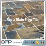 Mattonelle di pavimento arrugginite mezze di pietra naturali dell'ardesia per la villa antica