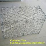 電流を通された六角形の80X100mm Hescoの金網Gabion /Gabions (XM-P4)