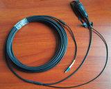 Câble fibre optique imperméable à l'eau extérieur de Sc de LC