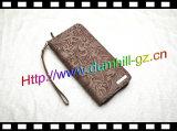 Популярный бумажник перемещения кожи держателя пасспорта и билета