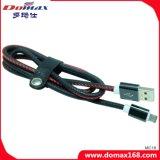 Кабель зарядное устройство USB кожи черного цвета с пользуйтесь функцией настройки качества