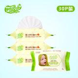 Оптовая торговля детским влажной салфеткой производителя в Китае Шаньдун Private Label не спирт Компактный одноразовый дешевые заводская цена