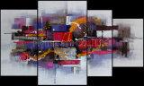 Het abstracte Olieverfschilderij van de Kunst van de Muur van de Groep