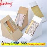 Роскошь изготовленный на заказ логоса упаковывая прослаивает бумажную коробку с ясным окном