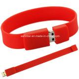 Bastone di gomma del USB di Pendrive del Wristband di memoria del USB del braccialetto dell'azionamento dell'istantaneo del USB