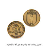 Таможня штемпелюя старую монетку сувенира 3D