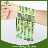 Wristbands da tela do cetim da corda da forma