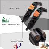 Ключ Ален черного цвета высокого качества Hex установленный с магнитной внутренностью