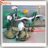 A decoração de jardim de esculturas de animação artesanato artificial de fibra de vidro