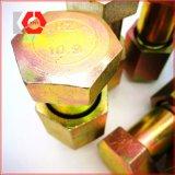 LÄRM 609 verzinktes DIN610 Kohlenstoffstahl-Hexagon befestigte Schrauben