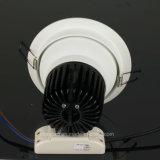bianco caldo di alluminio bianco LED Downlight di Dimmable della PANNOCCHIA 7W