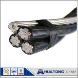 Câble Bull AAC+ACSR d'ABC isolé par temps système duplex de baisse de service
