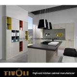 Disegno della mensola di legno solido per l'isola per gli armadi da cucina di Cusotm che illuminano Tivo-0213h