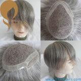 Toupee grigio del sistema dei capelli di colore per gli uomini