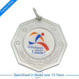Wholesale Customized Metal Silver Soccer /Football Award Medal