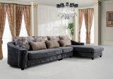 Strato classico stabilito del tessuto del sofà d'angolo in L figura con il salotto del Chaise per il salone