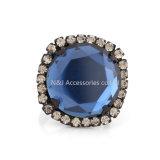 Верхняя моды сплава довольно синий кольца для женщин в форме квадрата очарование леди ювелирные изделия из камня