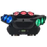 Guangzhou Baiyun District Hot Sale 9PCS 12W RGBW 4in1 CREE Infinito girando LED Spider Beam Moving Head com Ce RoHS