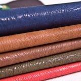 Couro sintético do PVC do plutônio do falso luxuoso para a mobília