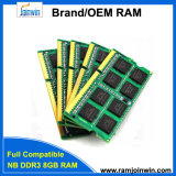 RAM компьтер-книжки низкой плотности 1600MHz PC3-12800 512mbx8 DDR3 8GB