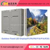 Sobre o diodo emissor de luz 7500nits ao ar livre anúncio comercial reparado do indicador P10 (960mm*960mm)