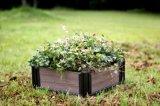 Bacs de fleur en bois extérieurs de qualité de cadre de fleur de WPC