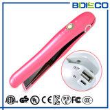 Arbeitsweg-Gebrauch-bewegliche mini flache Eisen-Batterie-nachladbarer Haar-Strecker