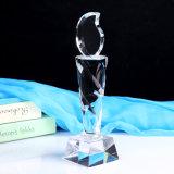 Трофей нот кристаллический трофея культуризма изготовленный на заказ кристаллический
