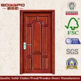 Sola puerta interior de madera sólida para el dormitorio (GSP2-017)