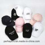Gorra de béisbol de encargo de la manera de los sombreros del deporte del algodón con bordado