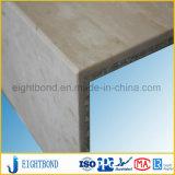 10mm tauchte Marmoraluminiumdie bienenwabe-Panel mit Stein für Büro auf