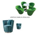Шикарный стул софы отдыха ткани основания металла мебели салона (UL-JT829)