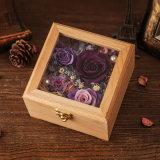 木のギフト用の箱は創造的なギフトのためにみずみずしい花を維持した