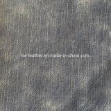 Cuir PU synthétique en grain de tissu pour chaussures Hx-S1731