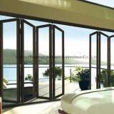 Feelingtop Exterior de excelente qualidade de vidro de alumínio portas dobráveis