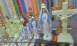 Perles de Rosaire de 20mm / 30mm, Grand Rosaire Catholique, Rosaire Religieux Lumineux, Gros Collier (IO-cr_luminous)