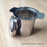 Calore di alto livello che resiste alla bottiglia di Infuser del tè del silicone dell'a fogli staccabili dell'acciaio inossidabile