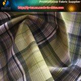 Tessuto di Shirting dell'assegno tinto filato molle eccellente di Aty del poliestere del pelo (YD1163)