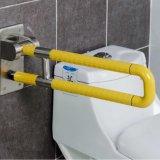 Barra de garra dobrável do toalete de nylon Handicapped do banheiro do equipamento para deficientes motores