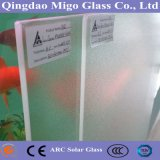 4mm trempé Double Side Ar Coated Prism / Matt Solar Collector Glass