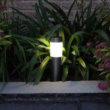 Lampe solaire de pelouse de chemin d'acier inoxydable